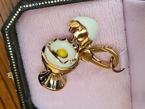 Juicy Couture Cracked Egg Charm Gold - New in Box free shipping