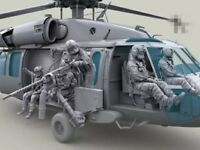 1:35 Scale US HH-60G Pave Hawk Helicopter crew set 7 figures resin model