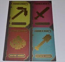 MINDCRAFT MOJANG (4) HARDBACK BOOKS on MINECRAFT GAMING!