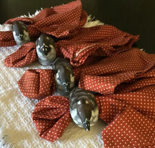 New listing Napkins With Wooden Duck Rings, Pre-owned For Table Decoration.