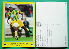 RARE FOOTBALL CPA FRANCE 1996-1997 FC NANTES ATLANTIQUE FCNA JAPHET N'DORAM