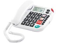 Senioren Großtasten SOS Telefon Notruf Taste XLF-80 SPRICHT LEUCHTET Festnetz