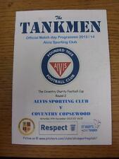 14/12/2013 ALVIS SPORTING CLUB V COVENTRY copsewood [COVENTRY Charity Cup ITE].
