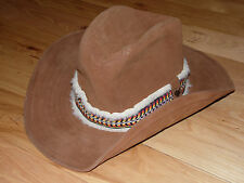 Used Suede GOLDEN GATE HAT CO. WESTERN COLLECTION COWBOY HAT SZ LARGE  Made USA