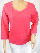 ★ PREGO ★ L ~ pink ~ Tolles Shirt T-Shirt ~ 3/4-arm ~ Longsleeve ~ NEU
