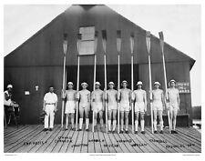 11x14 PHOTO: HARVARD CREW TEAM VARSITY 8 OARS 1913 CAPTAIN, COXSWAIN, STROKE BOW
