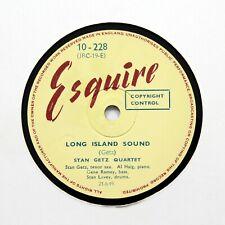 """STAN GETZ QUARTET """"Long Island Sound / Mar-cia"""" (E+) ESQUIRE 10-228 [78 RPM]"""