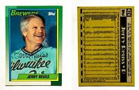 Jerry Reuss Signed 1990 Topps #424 Card Milwaukee Brewers Auto Autograph
