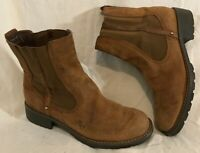 Clarks Brown Ankle Leather Boots Size 4.5D (758Q)
