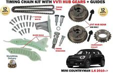 FOR MINI COUNTRYMAN 1.6 + ONE COPPER JCW 2010-> TIMING CHAIN KIT + VVT HUB GEARS