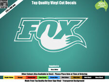 FOX RACING DECAL - FOX LOGO - MOTORCROSS - WHITE or COLOURS