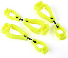 New 3x Yellow Glove Guard Clip For Work Safety With Patented Safety Break AwayOY