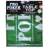 Tactic Games 152273 Pro Poker Table Top Green Felt Playing Surface
