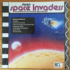 Space Invaders: Sound Effects from a Fantasy Space Mission Moog and Drums MINT