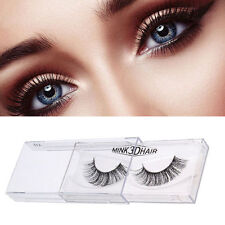 1 Pair 100% Fashion Real 3D Mink Hair Natural Soft False Eyelashes Cross Lashes