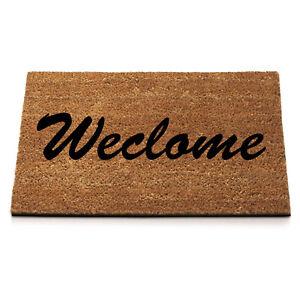 STILL GAME Anti Slip Entrance Floor PVC Doormat Natural Coir Door Mats WECLOME