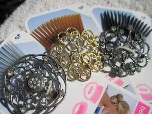 Scunci Bendini Clip Bend Slide & Snap Diamonds Intricate Conair Hair Comb Pin