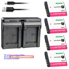 Kastar Battery Dual Charger for Sony NP-FT1 & Sony Cyber-shot DSC-T5/B Camera