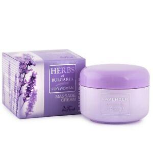milde Massage Lavender - Herbs of Bulgaria mit Lavendelöl 330ml ohne Parabene