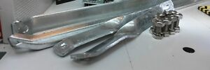 Land Rover Series 2 2a 3 Body Stay Brackets Galvanised LWB & Stainless Bolts Set