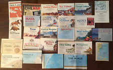 National Geographic 26 Map Lot ~ World US Canada Texas West Indies Mount Everest