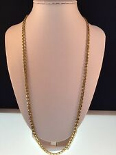 """14k solid yellow gold necklace EUC Open Box Link 25"""" Italy 585 GMG 19.5 Grams"""