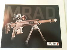 Barrett MRAD Multi Caliber Firearm Gun Data Sheet Style 2 / New