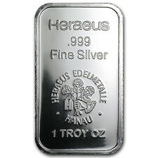 1 oz Silver Bar - Heraeus (New Design, V2) - SKU #61489