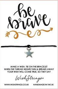 Wish Bracelet. Be Brave. Handmade Gift For Friend, Sister, Daughter, Aunt
