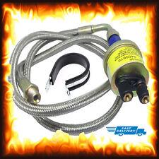 """1/8 NPT 36"""" manguera de acero largo remoto sensor de presión de aceite Gauge Kit de remitente Unidad"""
