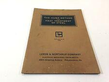 1926 The Hump Method For Heat Treatment of Steel Catalog 90 Leeds & Northrup