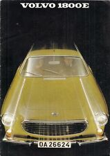Volvo 1800 E Coupe 1969-70 UK Market Sales Brochure P1800