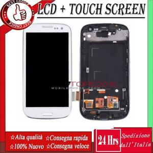 DISPLAY PER SAMSUNG GALAXY S3 GT-i9300 i9305 LCD SCHERMO TOUCH SCREEN  + TELAIO