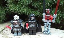 Custom Star Wars DARTH MALGUS, Darth Nihilus, Darth Maul Minifigure Size 3pc New