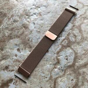 Rose Gold Stainless Steel Band for Samsung Galaxy Watch Active 2 40mm 42mm 44mm