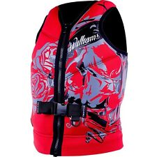 Williams Mens Sector Neoprene Life Jacket Vest Red Plus Size 6Xl