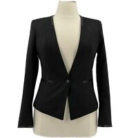 White House Black Market Jacket NWOT Black Blazer One Button Collarless Size 12