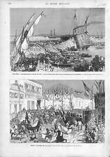 TURKEY Disaster Izmir Smyrna Fall of a Seaside Coffee House/CARNAVAL NICE  1873
