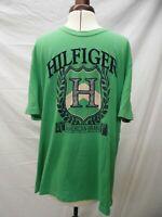 Genuine Vintage Men's 80s/90s Tommy Hilfiger Green T-Shirt Size XL