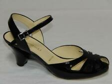 BRUNO MAGLI Italy Made Women's Black Patent Leather Peep Toe Sandals Size 9 M