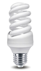 2 Philips Pack Energy Saving 20W = 100w Spiral Light Bulb E27 CFL Warm White
