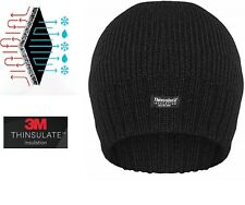 1cc191fa970 Men Women Thinsulate 3M Warm Black Beanie Hat For Insulated Knitted Designer