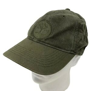 Timberland Corduroy Baseball Cap Hat Logo Cotton Cord Olive Green Y2K 90s 00s