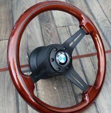 Steering Wheel BMW Wood Black Spokes E32 E34 E36 Z3 Black Wooden 1992-1998