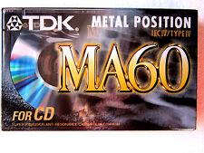 CASSETTE TAPE BLANK SEALED - 1x (one) TDK MA 60 (type IV) [1997] METAL