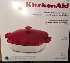 KitchenAid STREAMLINE ceramic bakeware 4.2 Qt. Empire Red