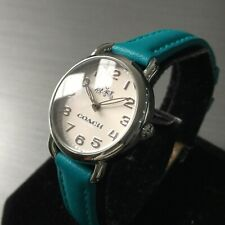 Ladies Coach Designer Watch DELANCEY 14502611 Steel Blue Leather Genuine
