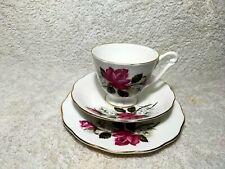Vintage Queen Anne Bone China Trio Tea Cup Set England Made Collectible