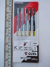 YATO YT-3431  Jigsaw Blades for Wood U Shank HCS. Pack of 5.