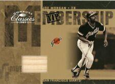 Joe Morgan 2005 Vip Membership Game-Used Bat Piece Card 01/25 Giants